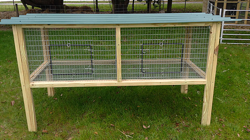 Rabbit Hutch Coop 9